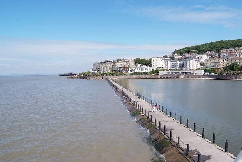 There are lovely places to visit both inland and along the north Somerset coast. This is Weston Super Mare.