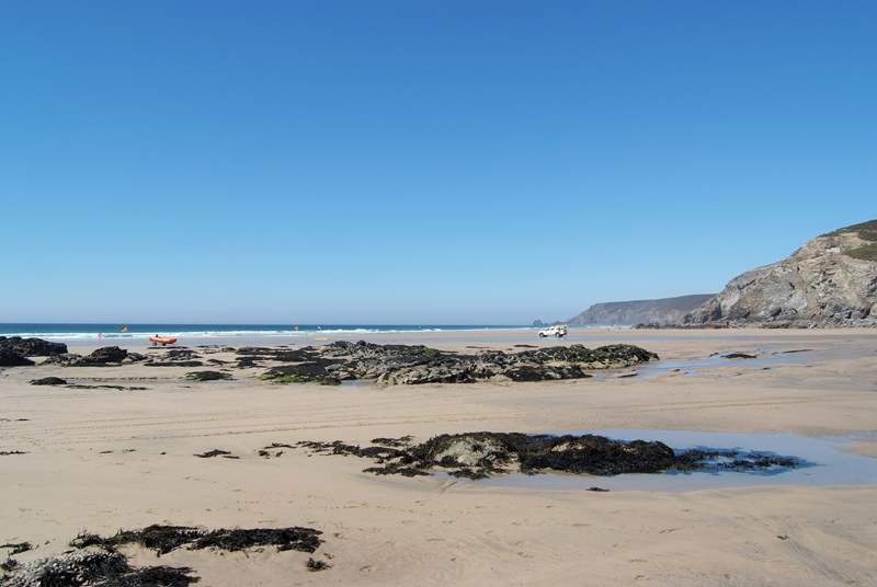 Porthtowan is another renowned north coast surfing beach within 10 miles of Wheel Barn.