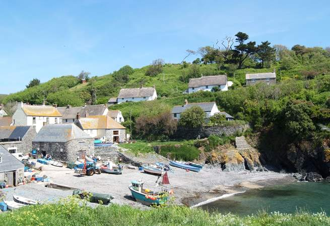 Cadgwith is still very much a thriving fishing village.