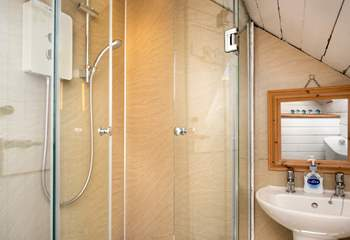 The small shower room on the first floor.