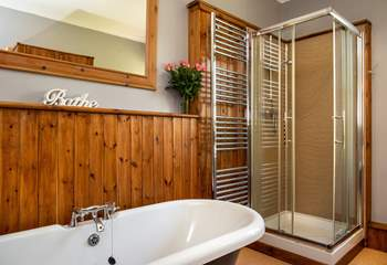 There is also a large shower to wash away your troubles.