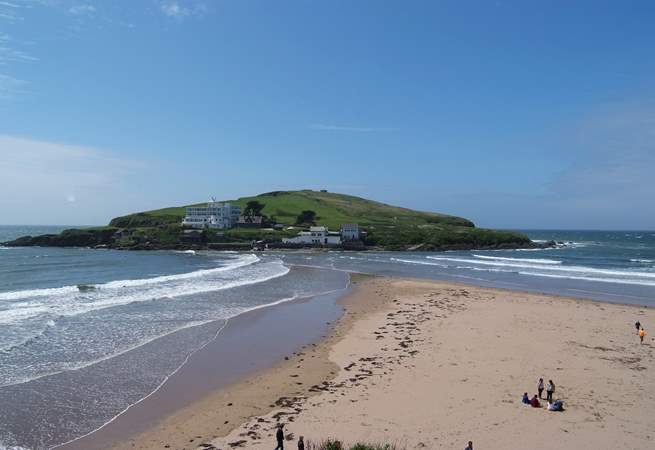 Bigbury-on-Sea has a wonderful beach and is only a short drive away.