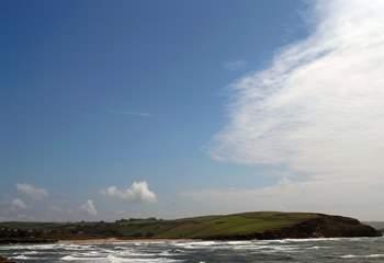 Bigbury Bay on a windy day.