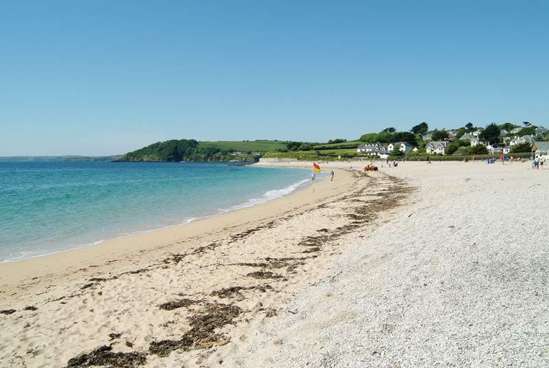 Gyllyngvase beach is a five minute walk away with the popular Gylly Cafe right on the beach.