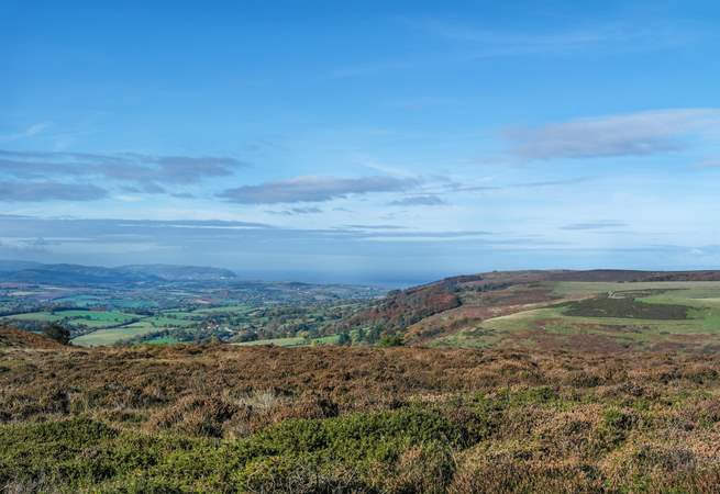 The breathtaking views from high up in the Quantocks.