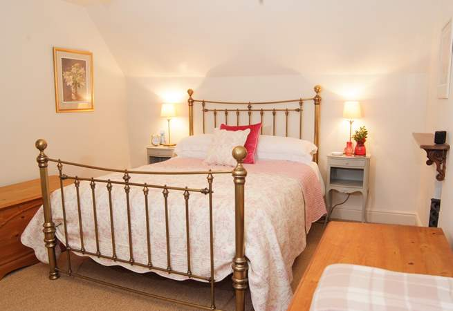 The master bedroom is spacious with a touch of luxury too.