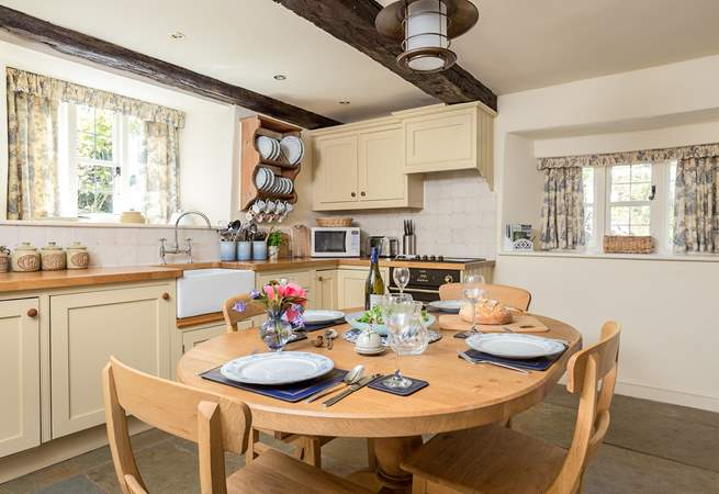 The kitchen is fitted as a true home-from-home and is exceptionally well-equipped.