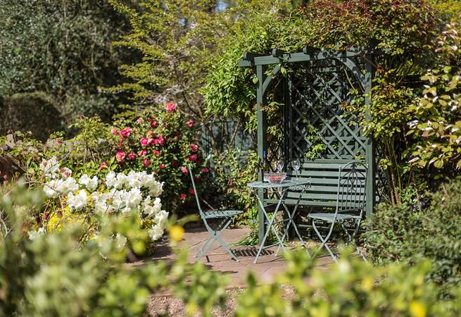 There is a beautiful cottage garden at the front of the cottage where you can sit in peace and quiet listening to the sound of the little brook.