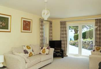 There are lovely sea views from the comfortable sitting-room.