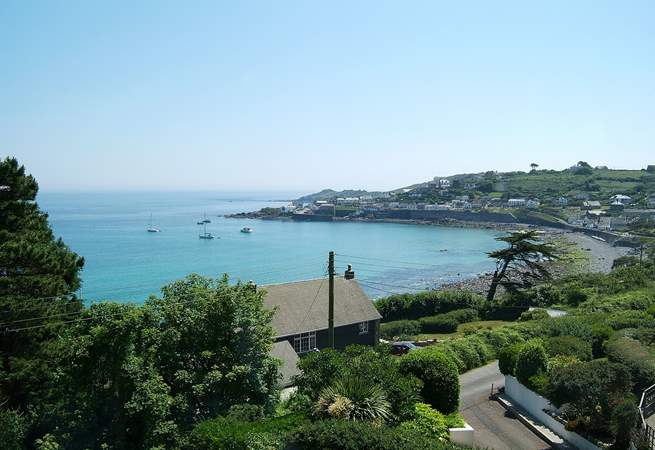 The view from the other side of the village, looking back towards the harbour.