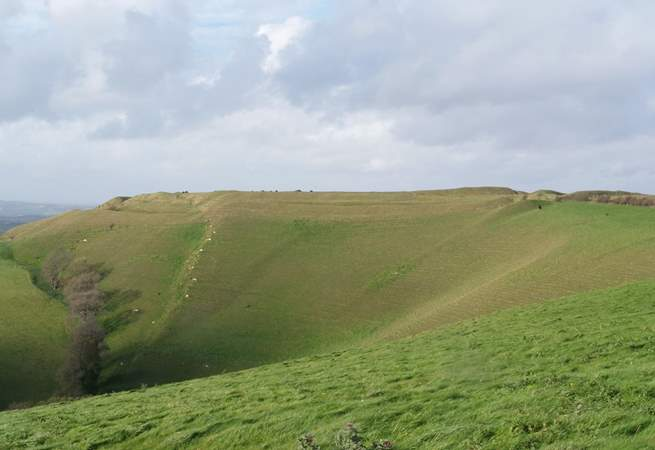 Eggardon Hill, an Iron Age hill fort is nearby, with spectacular views of the countryside and the English Channel in the diistance.
