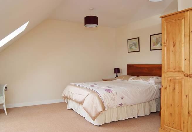 The upstairs double bedroom (bedroom 2).
