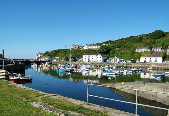 Porthleven's scenic harbour.