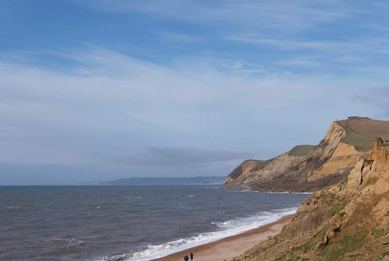 Golden Cap from Eype between Chideock and Bridport.