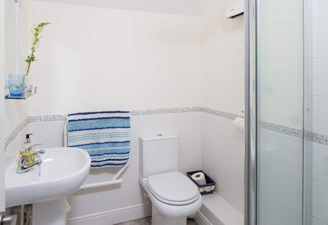 The family shower-room is on the first floor, but there is also a useful cloakroom downstairs.