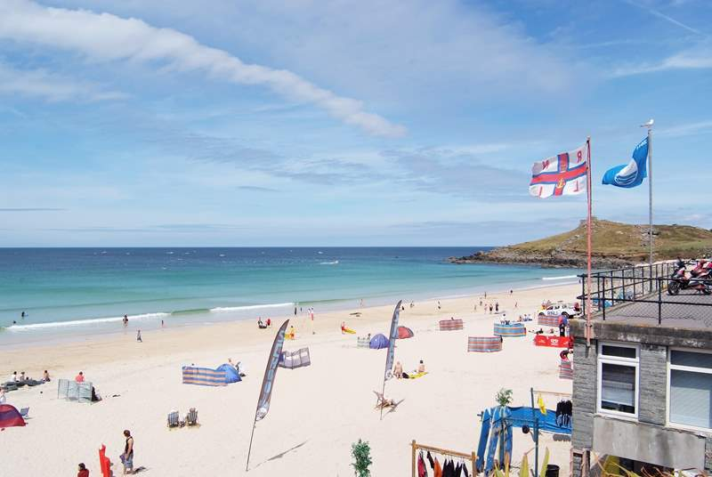 St Ives is a short distance away.