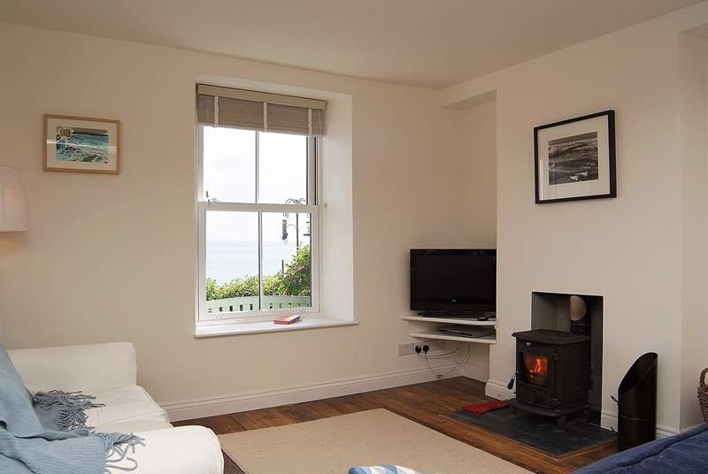 Sea views and a roaring wood-burner.