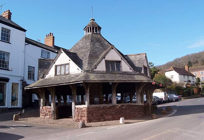 Visit the medieval Exmoor  town of Dunster. This is the ancient Yarn Market in the town centre.