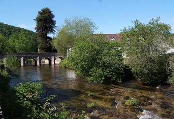 This is the river Barle as it flows through Dulverton - a lovely little place just a few miles from The Watermill - you can walk there.