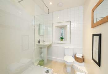 This is the ground floor walk-in shower.