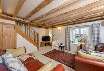 This is such a welcoming cottage with a spacious and comfortable sitting-room.