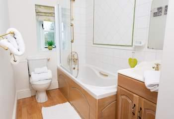 The en suite bathroom for the second ground floor bedroom.