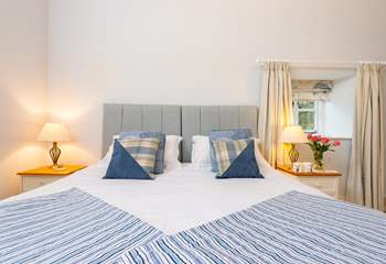 Luxurious bedding and beautifully made up beds are a real treat here.