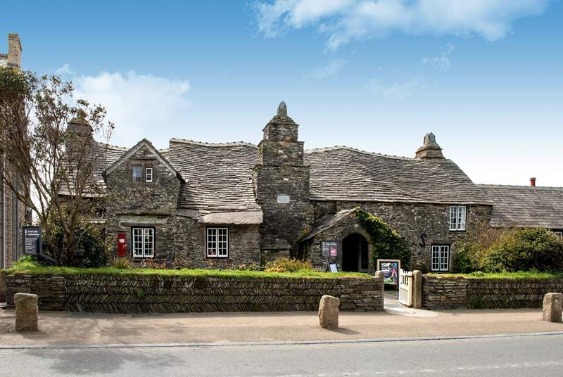 The Old Post Office (National Trust) in nearby Tintagel, a village  steeped in history and Arthurian legend