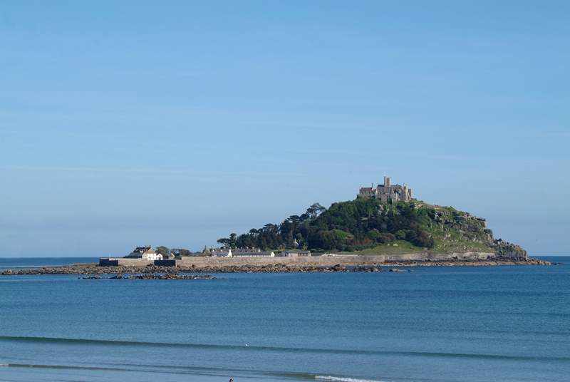 The beautiful St Michael's Mount which sits opposite the golden sands of Marazion beach, is a short drive away (six miles).