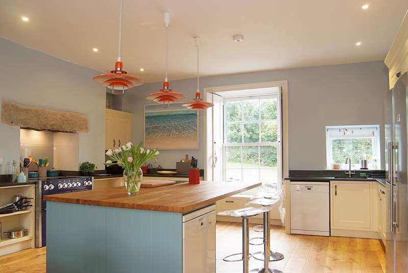 The huge kitchen/dining-room is the hub of the house.