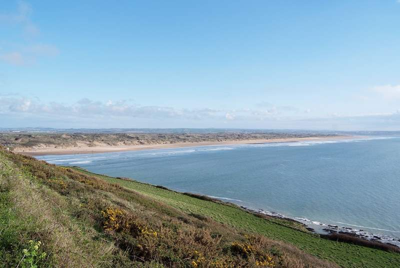 This is Saunton Sands - a short drive away from Westward Ho! A fantastic stretch of beautiful sand and surf.