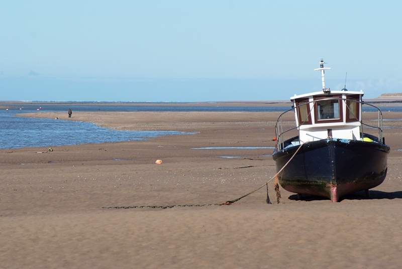 Take the seasonal passenger ferry across to  Instow where there are miles of sandy beach  to walk along at low tide.