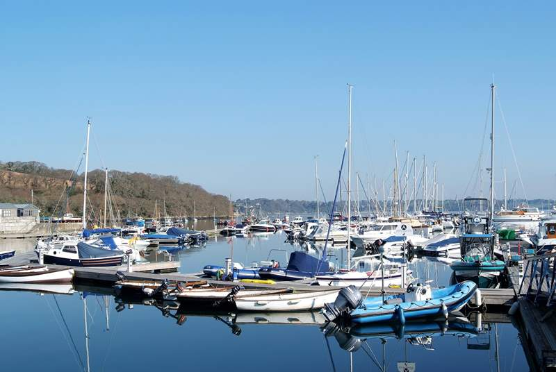 Mylor Yacht harbour is a couple of miles away and offers boat hire as well as a great cafe and restaurant.