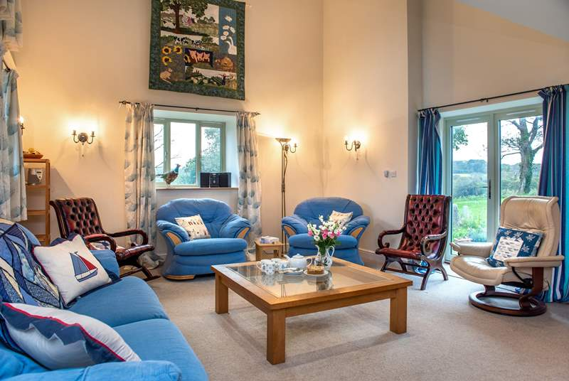 There is plenty of space to relax at Dowstall Barn.