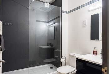 The gorgeous shower-room with walk-in double shower.