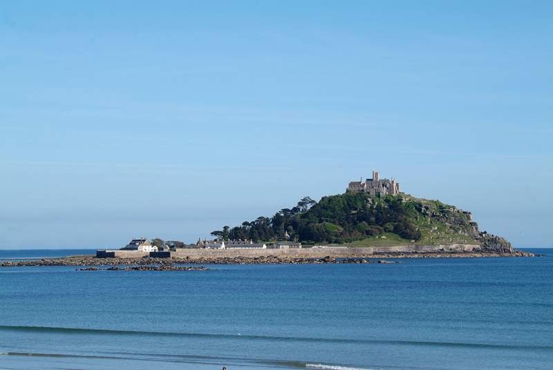 St Michael's Mount is visible from the terrace although this is not the actual view.