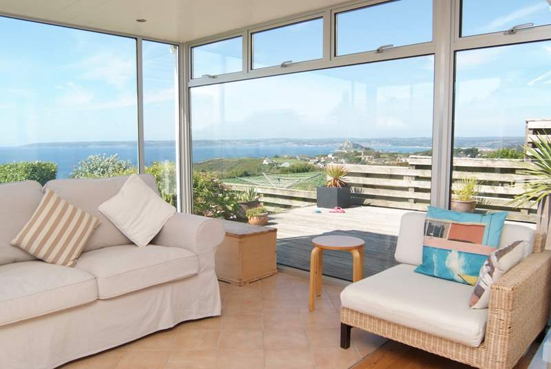Fabulous views from the sitting-room.
