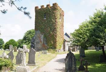 The pretty church in Ruan Minor is a few minutes' walk up the hill from the house and past the village shop on the way.