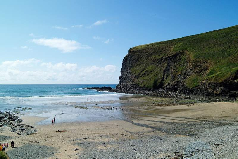 The lovely beach at Crackington Haven is just a 30 minute drive away.