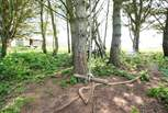 The rope swing will keep the children (and young at heart!) entertained in the great outdoors.