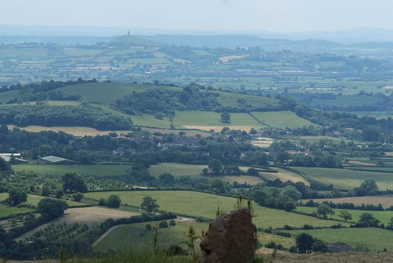 Somerset is a beautifully varied county. This view across the levels, with Glastonbury Tor in the distance, is taken from a vantage picnic point at the top of the Mendips.