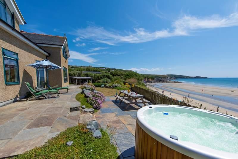 Splendid views from the hot tub.