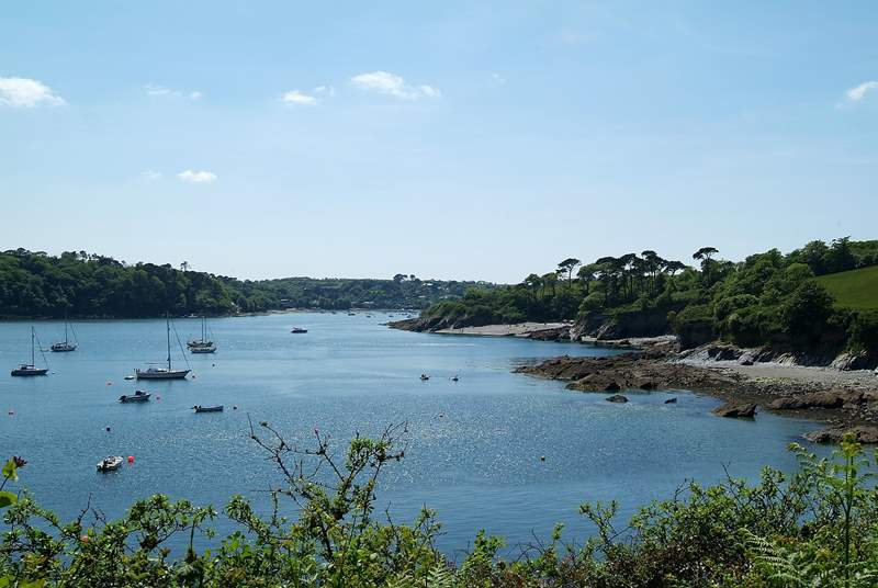 The nearby Helford River's little beaches, lovely woodland valley and meandering footpaths are also well worth exploring.