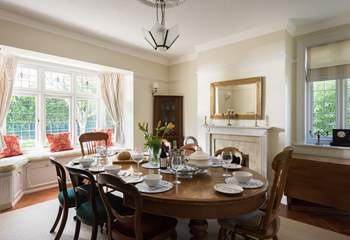 The dining-room is a wonderful room to dine with friends and family.