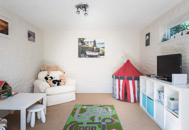 The playroom can be found just off the rear patio, this is a fun place for the young ones.