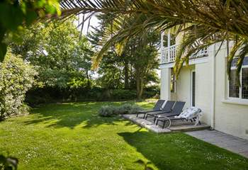 In summer the garden has areas of sun and shade depending on your preference.