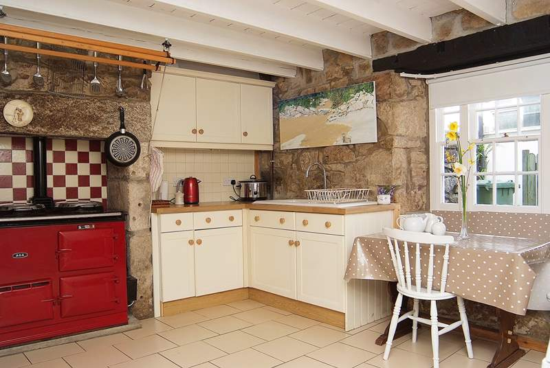 The kitchen has an Aga.