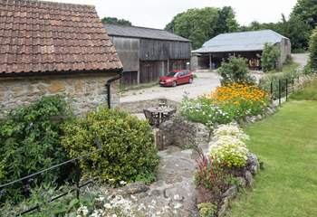 A fabulous rural setting on a working dairy farm.