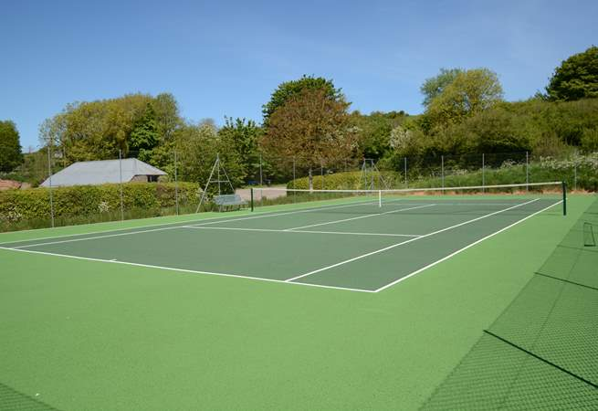 This fabulous tennis court is a real bonus for the energetic.