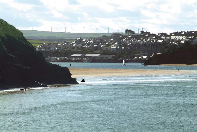 Daymer Bay is a great beach for the family and further along the estuary you can look across to Padstow.